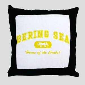 Bering Sea Home of the Crabs! Yellow Throw Pillow