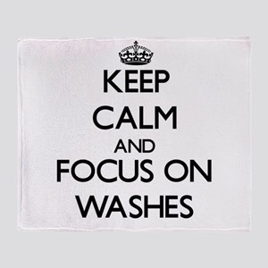 Keep Calm by focusing on Washes Throw Blanket