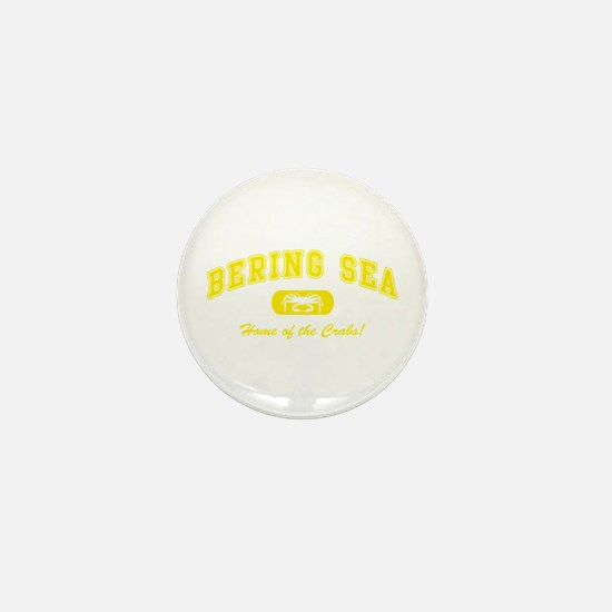 Bering Sea Home of the Crabs! Yellow Mini Button