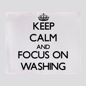 Keep Calm by focusing on Washing Throw Blanket
