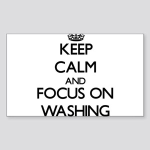 Keep Calm by focusing on Washing Sticker