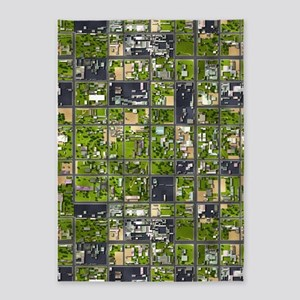 Aerial View 5'x7'Area Rug