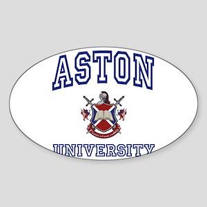 ASTON University Oval Sticker