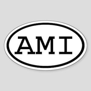 AMI Oval Oval Sticker