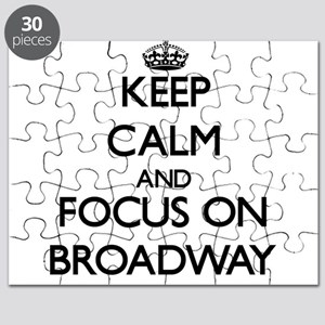 Keep Calm by focusing on Broadway Puzzle