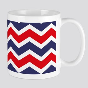 Nautical Chevron Red Mug