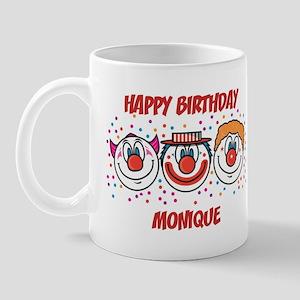 Happy Birthday MONIQUE (clown Mug