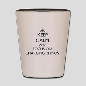 Keep Calm by focusing on Charging Rhino Shot Glass