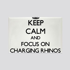 Keep Calm by focusing on Charging Rhinos Magnets