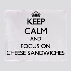 Keep Calm by focusing on Cheese Sand Throw Blanket