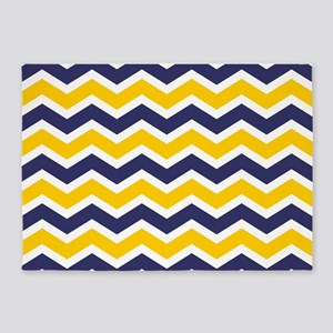 Nautical Chevron Yellow 5'x7'Area Rug