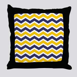 Nautical Chevron Yellow Throw Pillow