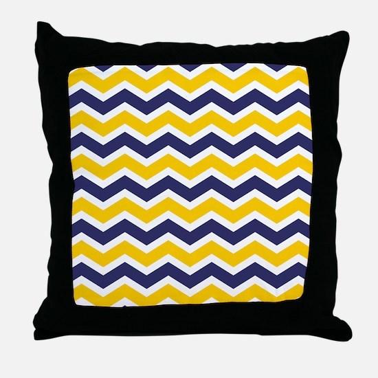 Nautical Chevron Yellow Throw Pillow