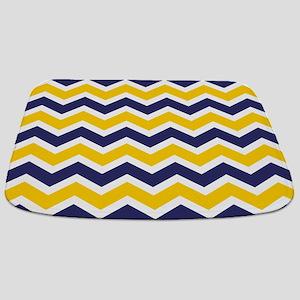Nautical Chevron Yellow Bathmat