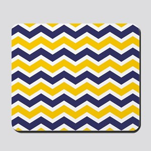 Nautical Chevron Yellow Mousepad