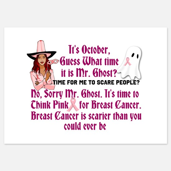 Breast Cancer is Scary Invitations