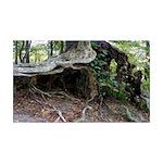 Elf's Home Tree Stump 35x21 Wall Decal
