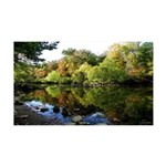 Mirror Lake Nature's Reflection 35x21 Wall Decal