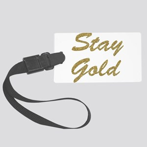 Stay Gold Large Luggage Tag