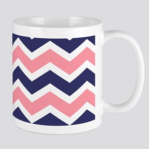 Nautical Chevron Pink Mug