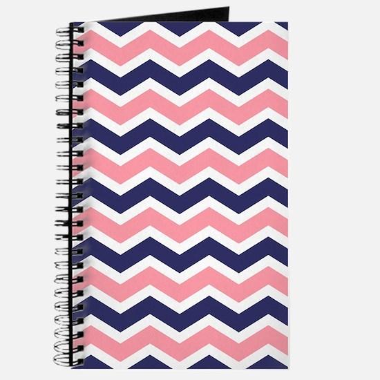 Nautical Chevron Pink Journal