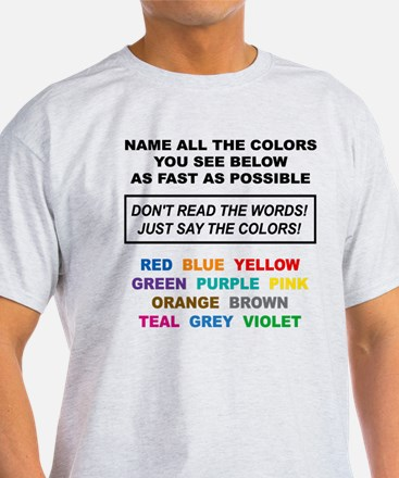 Stroop Effect Color Test T-Shirt