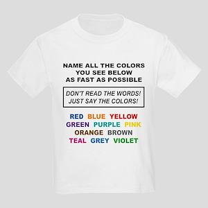 Stroop Effect Color Test Kids Light T-Shirt