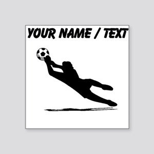 Custom Soccer Goalie Silhouette Sticker