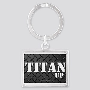 Titan Up Diamond Plate Keychains