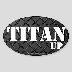 Titan Up Diamond Plate Sticker