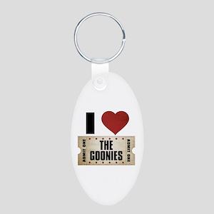 I Heart The Goonies Ticket Aluminum Oval Keychain