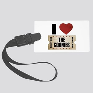 I Heart The Goonies Ticket Large Luggage Tag
