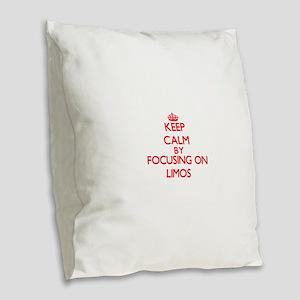 Keep Calm by focusing on Limos Burlap Throw Pillow