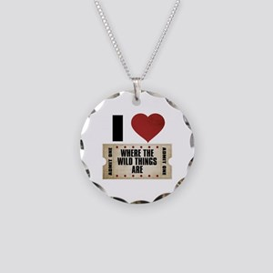 I Heart Where the Wild Things Are Ticket Necklace