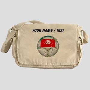 Custom Tunisia Soccer Ball Messenger Bag
