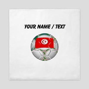 Custom Tunisia Soccer Ball Queen Duvet