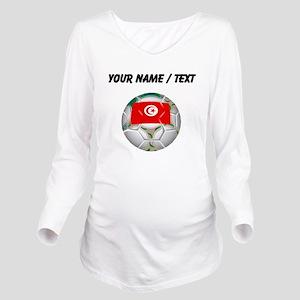 Custom Tunisia Soccer Ball Long Sleeve Maternity T
