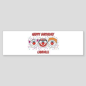 Happy Birthday CANDACE (clown Bumper Sticker