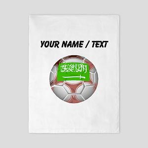 Custom Saudi Arabia Soccer Ball Twin Duvet