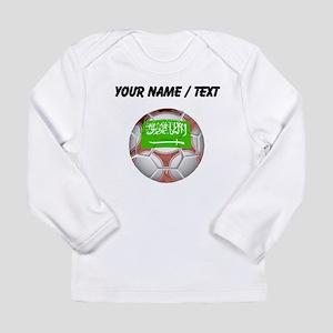 Custom Saudi Arabia Soccer Ball Long Sleeve T-Shir