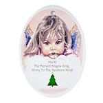 Cherub Oval Ornament