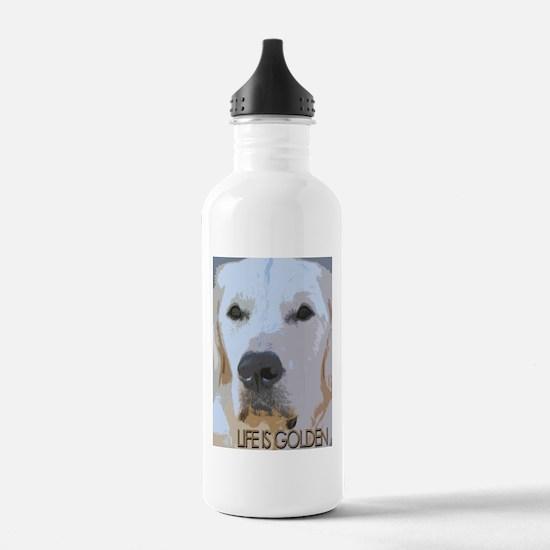 Life is Golden Water Bottle