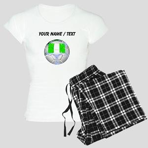 Custom Nigeria Soccer Ball Pajamas