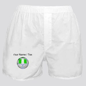 Custom Nigeria Soccer Ball Boxer Shorts