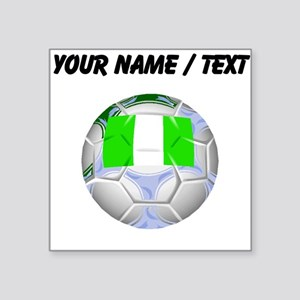 Custom Nigeria Soccer Ball Sticker