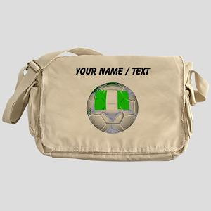Custom Nigeria Soccer Ball Messenger Bag