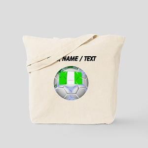 Custom Nigeria Soccer Ball Tote Bag