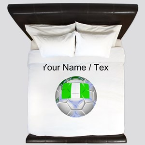 Custom Nigeria Soccer Ball King Duvet