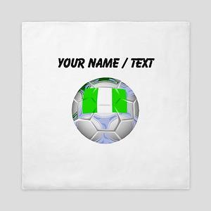 Custom Nigeria Soccer Ball Queen Duvet