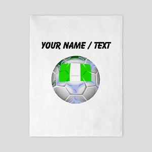Custom Nigeria Soccer Ball Twin Duvet